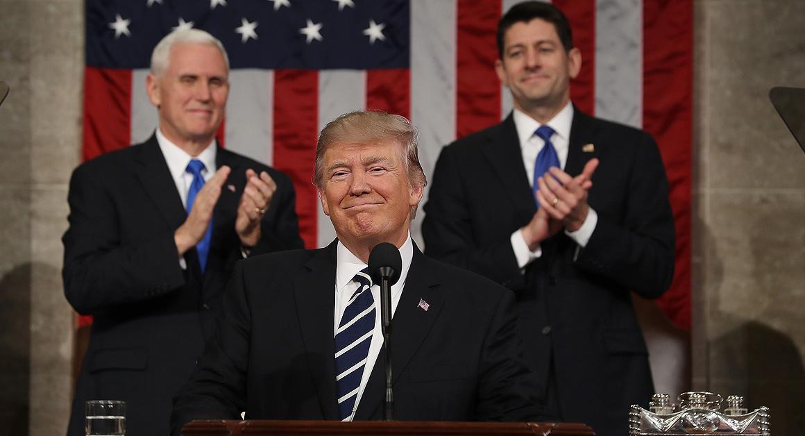 Trump addressed Congress, remained optimistic